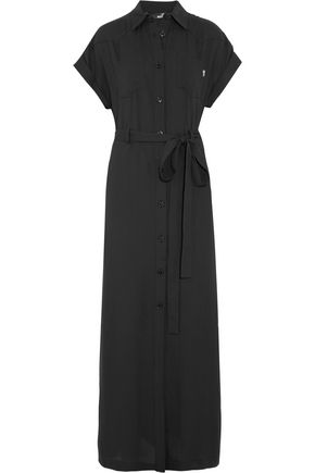 LOVE MOSCHINO Belted crepe maxi dress