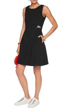 LOVE MOSCHINO Appliquéd stretch-cotton dress