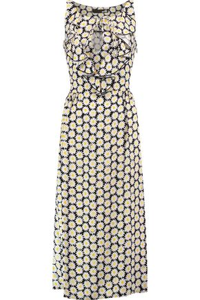 LOVE MOSCHINO Margherite floral-print crepe midi dress