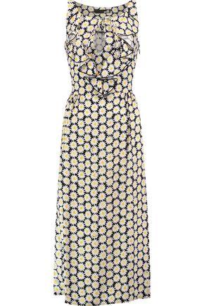 LOVE MOSCHINO Margherite floral-print crepe midi dress