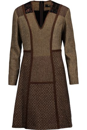 ETRO Wool-blend jacquard dress