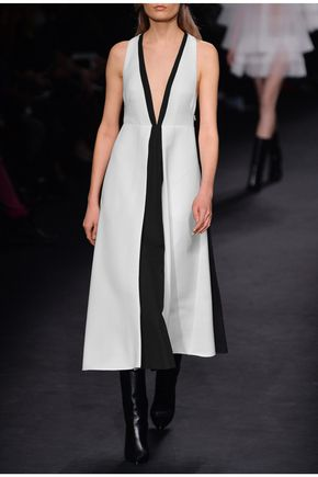 VALENTINO Two-tone wool-canvas gown