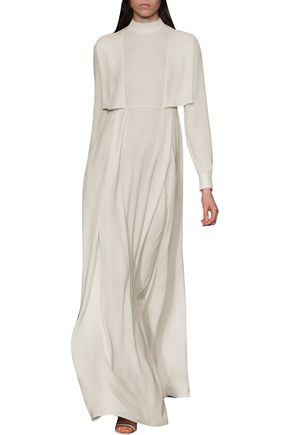 VALENTINO Layered silk-georgette gown