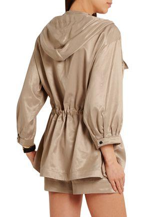 KENZO Hooded satin-poplin blouse