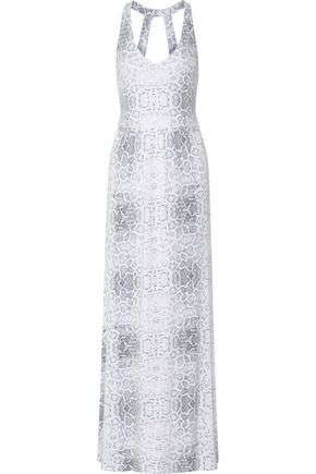 TART COLLECTIONS Eila snake-print stretch-modal maxi dress