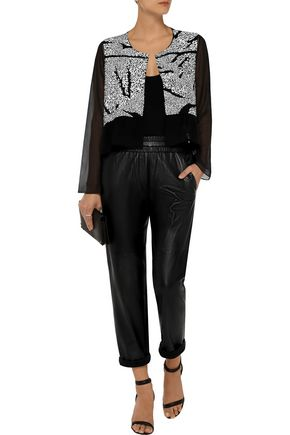 THAKOON ADDITION Sequined-front silk jacket