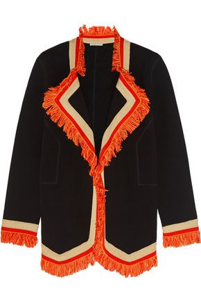 BOTTEGA VENETA Fringe-trimmed cotton blazer