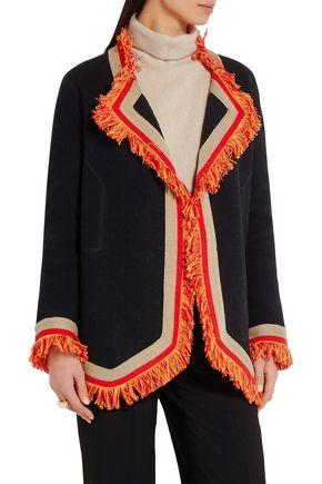 BOTTEGA VENETA Fringe-trimmed cotton blazer