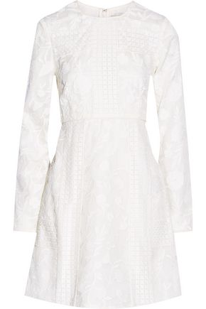 JILL STUART Tamara embroidered silk mini dress