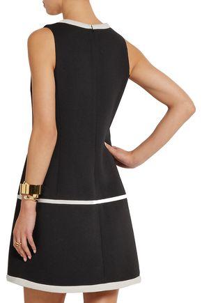 GIAMBATTISTA VALLI Silk organza-trimmed wool-blend crepe mini dress