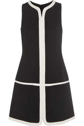 GIAMBATTISTA VALLI Silk organza-trimmed wool-blend crepe mini dress