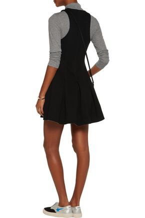 T by ALEXANDER WANG Pleated scuba-neoprene mini dress