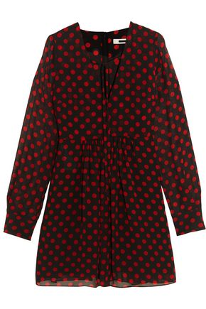 McQ Alexander McQueen Polka-dot chiffon mini dress