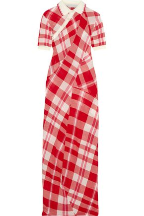STELLA McCARTNEY Checked knitted cotton maxi dress