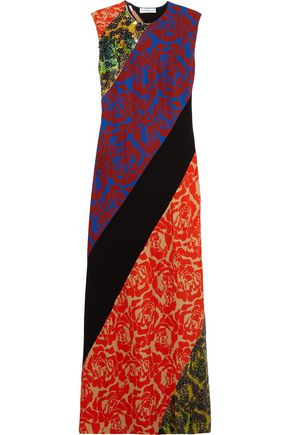JONATHAN SAUNDERS Renee sequined floral-print satin-crepe maxi dress