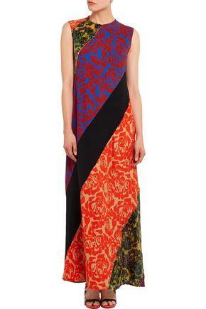 JONATHAN SAUNDERS Renee sequined floral-print satin-crepe maxi dress