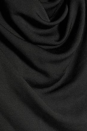 HALSTON HERITAGE Draped stretch-jersey dress