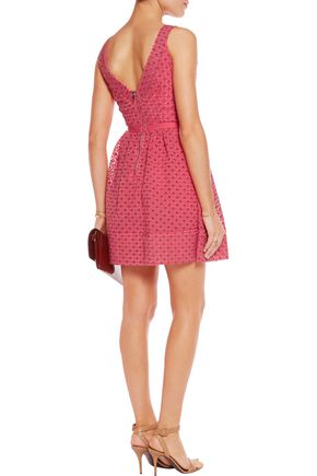 MAJE Riposte broderie anglaise cotton-blend mini dress