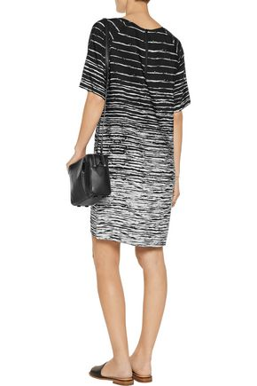 VINCE. Printed silk dress