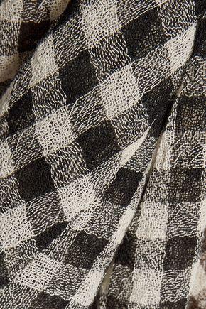 MARISSA WEBB Clarice gingham wool-broadcloth dress