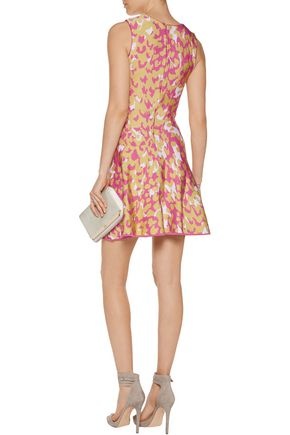 ISSA Marla jacquard-knit mini dress
