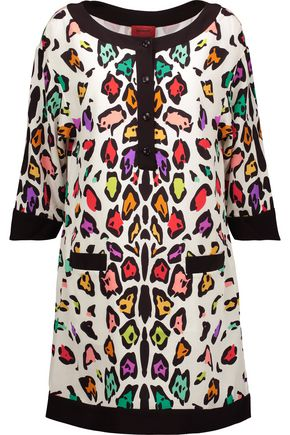 MISSONI Printed silk mini dress