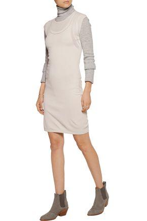 AUTUMN CASHMERE Stretch-jersey mini dress