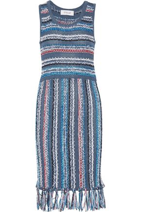 DEREK LAM 10 CROSBY Tasseled cotton-blend dress