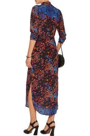 SALONI Molly printed silk-chiffon midi dress