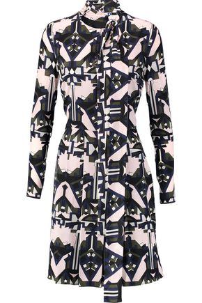MSGM Printed silk-crepe dress