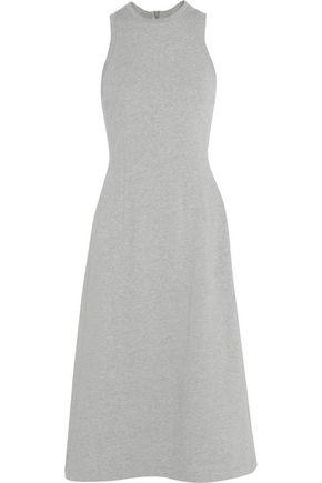 T by ALEXANDER WANG Striped cotton-jersey midi dress
