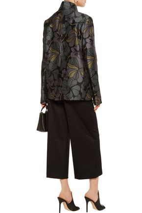 MARNI Printed wool and silk-blend jacket