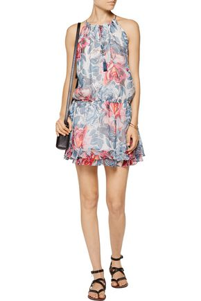ELIZABETH AND JAMES Kenji floral-print silk-chiffon mini dress