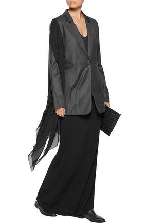 MM6 by MAISON MARGIELA Chiffon-paneled wool-blend blazer