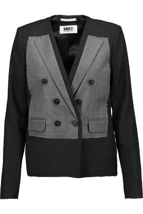 MM6 MAISON MARGIELA Paneled wool-blend blazer