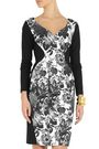 STELLA McCARTNEY Paneled floral-print cotton-blend and stretch-crepe dress