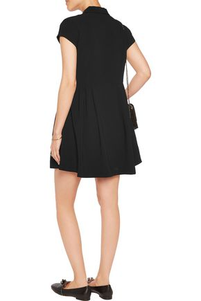ELIZABETH AND JAMES Rumor pleated crepe mini dress