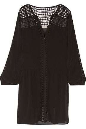 JOIE Oshea silk-chiffon mini dress