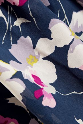 JOIE Larose printed silk-chiffon mini dress