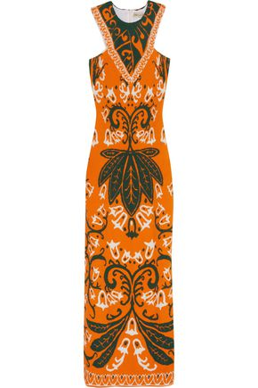 EMILIO PUCCI Jacquard-knit maxi dress