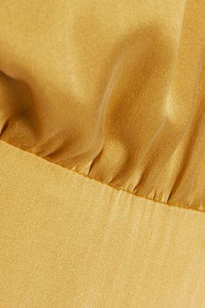ZIMMERMANN Open-back washed-silk dress