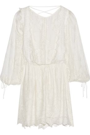 ZIMMERMANN Alchemy broderie anglaise silk mini dress