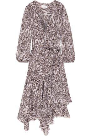 ZIMMERMANN Henna ruffled wrap-effect printed cotton and silk-blend midi dress