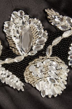 RAOUL Azalea embellished satin gown