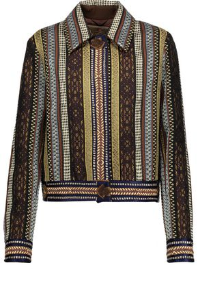 ETRO Embellished bouclé wool-blend sweater