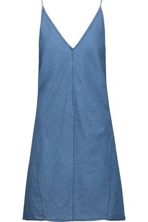 J BRAND Maryanne cotton and silk-blend chambray mini dress