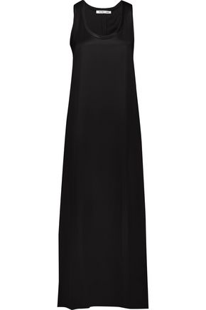 HELMUT LANG Satin-twill maxi dress