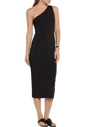 THEORY Yuleena one-shoulder stretch-knit midi dress