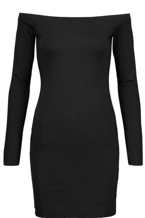 T by ALEXANDER WANG Off-the-shoulder stretch-jersey mini dress