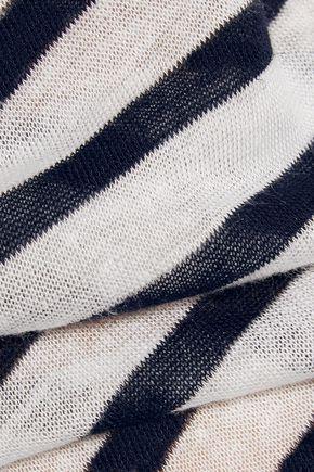 T by ALEXANDER WANG Striped stretch-jersey dress